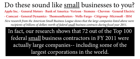 ASBL FY2011 Top 100 Federal Small Business Contractors Analysis