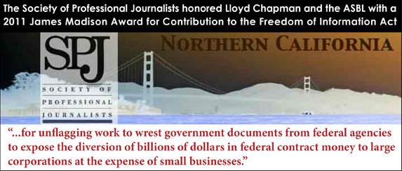 2011 James Madison Award for Contribution to the Freedom of Information Act